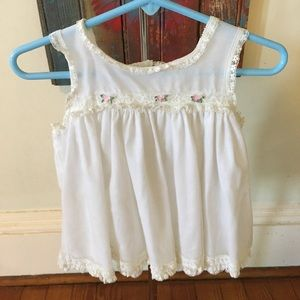 Sweet Vintage White Baby Dress Magic Fit